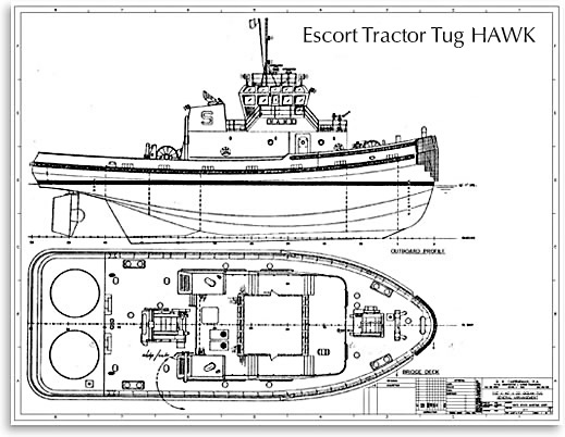 Tug Boat HAWK design drawing